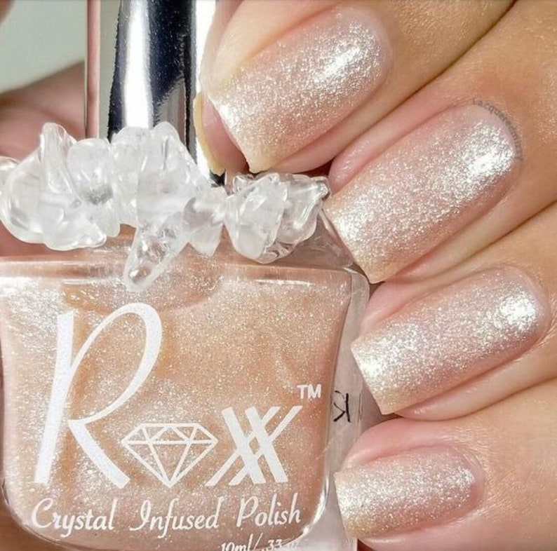 Moonstone And Rose Quartz Crystal Infused Nail Polish-You Are image 0