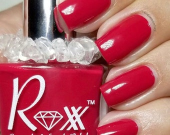Red Jasper Crystal Infused Nail Polish-Be Courageous. Toxic-Free, Cruelty Free, Metaphysical Beauty, Crystal Energy