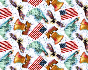American Icons Fabric Collection by 3 Wishes Fabric