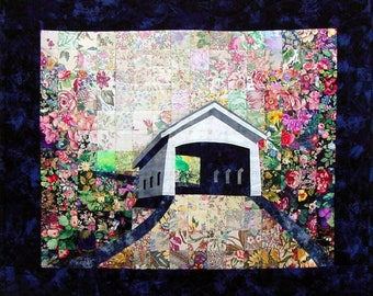 Covered Bridge Whims Watercolor Quilt Kit