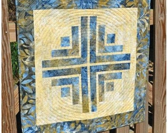 NEW RELEASE! Floating Cabin Quilt Pattern by Cut Loose Press *Domestic 1st Class Shipping Only 2.00!*