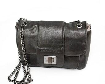 b0ffabb465 Vintage Black Glitter Handbag Black Party Clutch Small