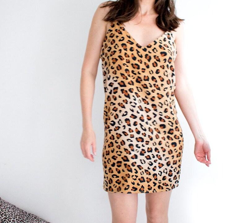 afbf4075097d Cute Leopard Dress Cheetah Print Slip Dress Sexy Festival | Etsy