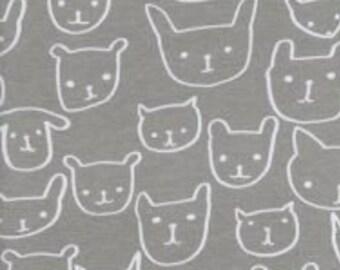 Hello Grey Knit Fabric -- Cotton + Steel -- Alexia Abegg