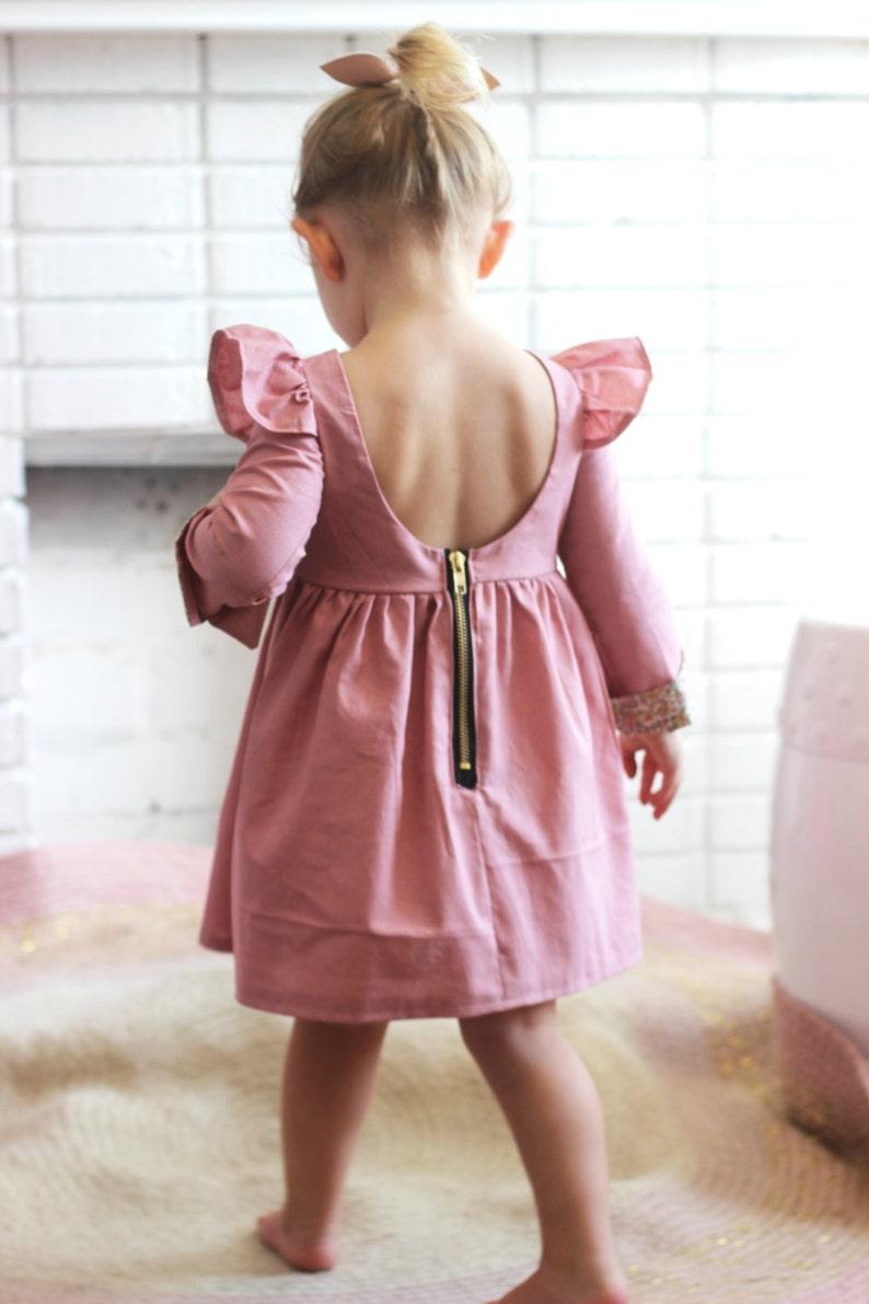 long sleeves girls dress sleeves Girls long sleeved dress kids dress winter dress toddler dress The Isabella Dress