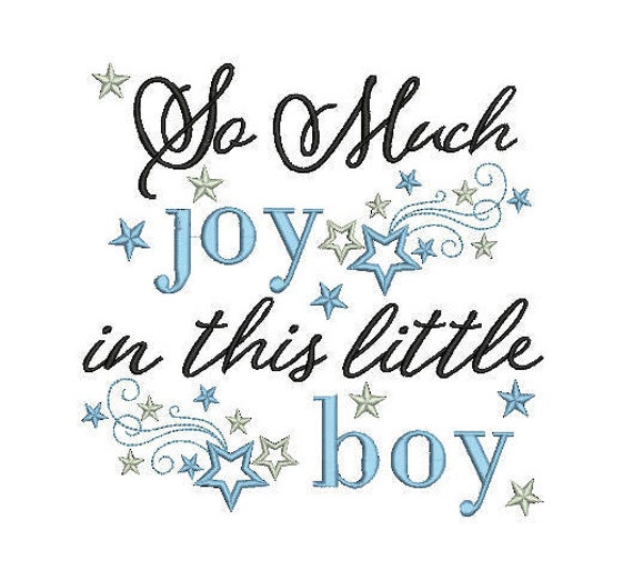 baby boy quote for embroidery machine design file 3 sizes great for  newborns vest bib blanket etc instant file download all formats