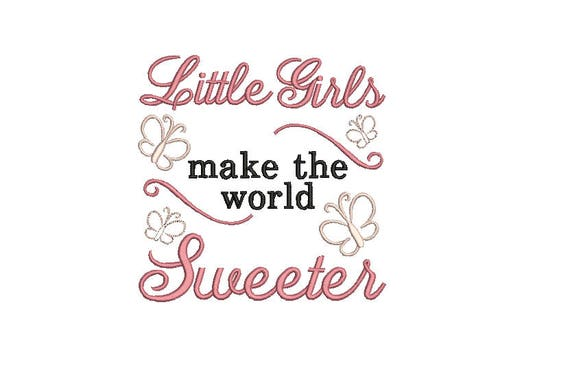 Baby Girl Quote Embroidery Machine Design File Newborn Brother Etsy