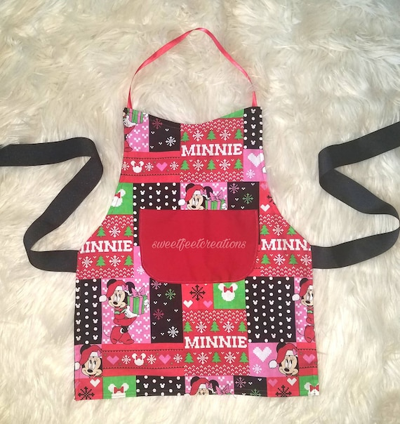 72e2c9d135da8 Minnie mouse Christmas apron