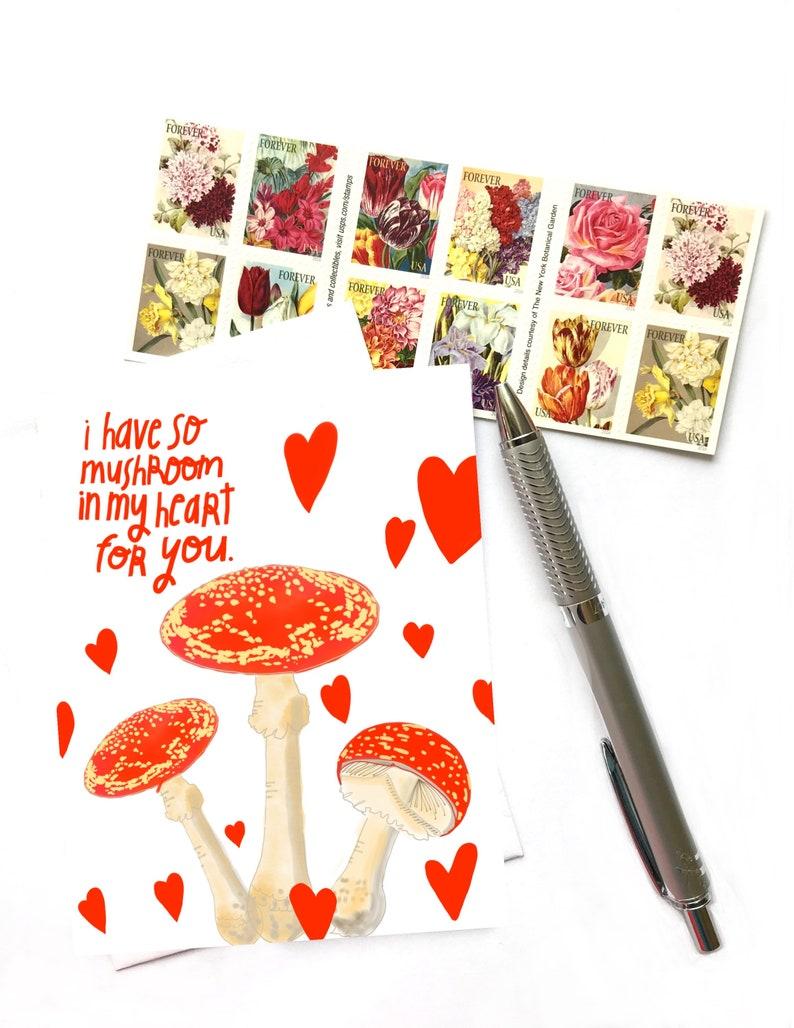 I Have So Mushroom In My Heart For You Mushroom Art Mushroom image 1
