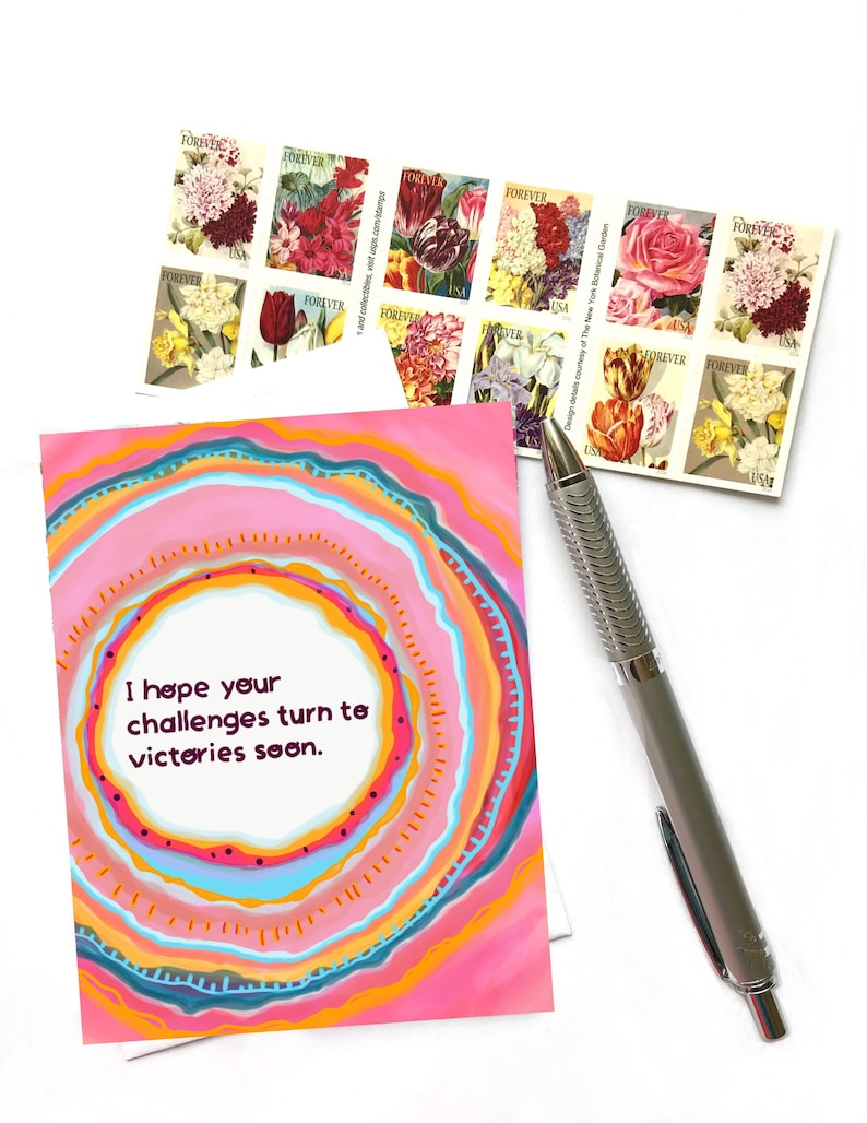 I Hope Your Challenges Turn To Victories Soon Greeting Card image 0