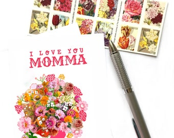 I Love You Momma, Mother Love, Mother's Birthday, Mother's Day Greeting Card