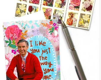 Mr. Rogers, I Like You Just The Way You Are, Fred Rogers, Mr. Roger's Neighborhood, Don't Change, You Be You, Greeting Card