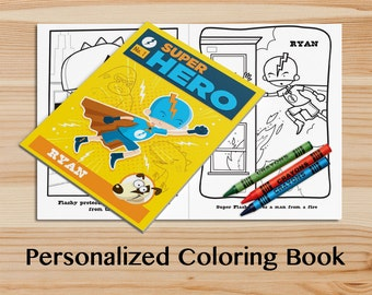 Custom Coloring Book Etsy