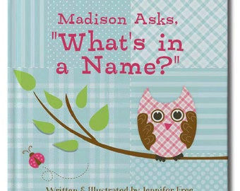 What's In A Name - Personalized Storybook - Birthday gift for girls. Kids Name personalized childrens Book for baby shower. Baby shower book