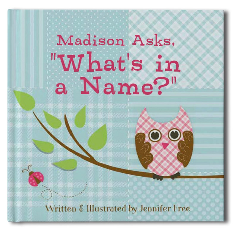 What's In A Name  Personalized Storybook  Birthday gift image 0
