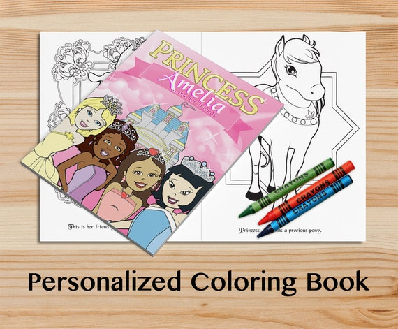 Personalized Princesses Coloring Book. A Custom Coloring Book | Etsy