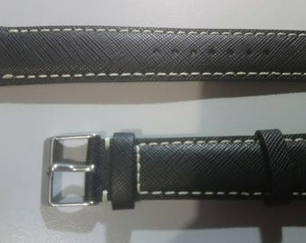 Top quality gents leather watch strap - 20mm various colours