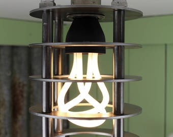 Windscale : A Deco-punk inspired pendant light.