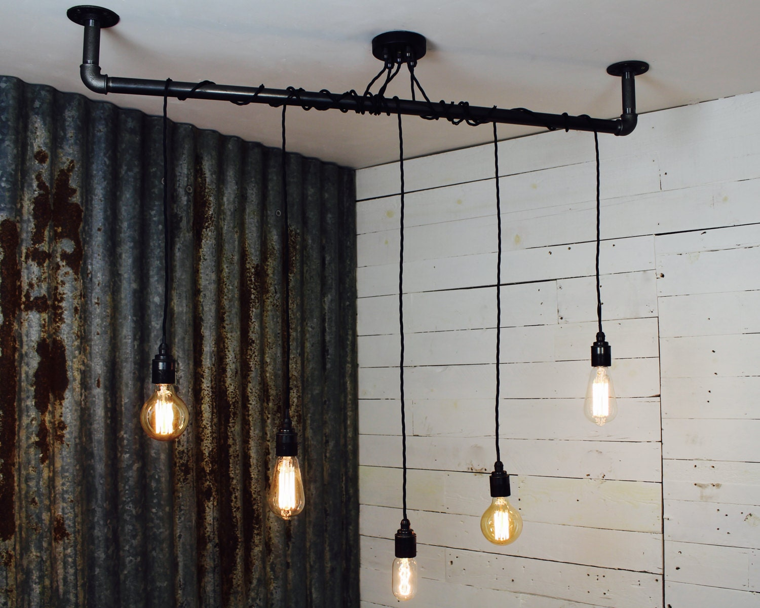 industrial light fittings metal tube handmade drop bar pendant light with fittings for e27 edison screw bulbs industrial light happisburgh