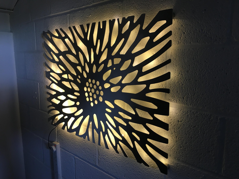 Laser Cut Decorative Metal Wall Art Panel Garden Wall
