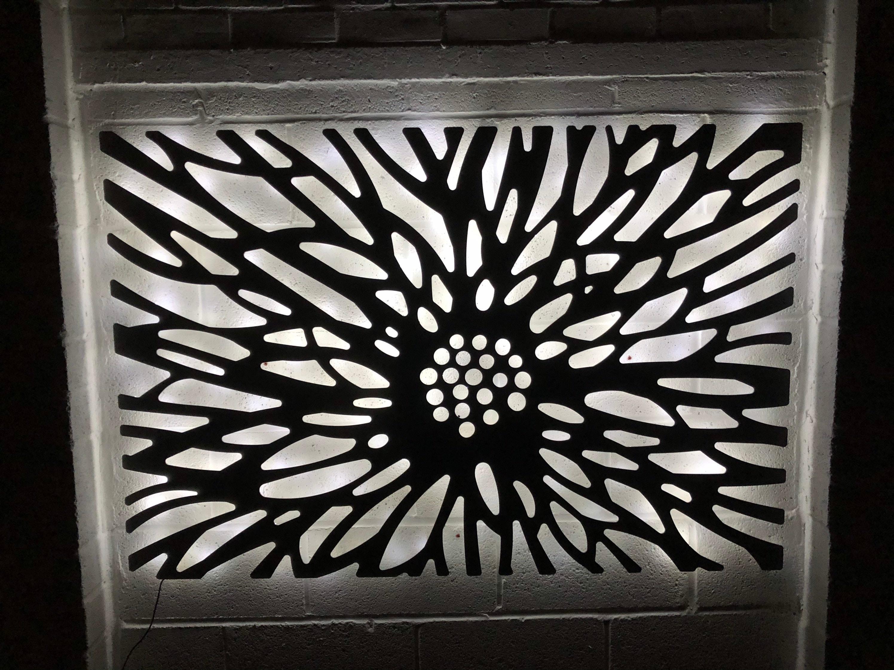 Laser Cut Decorative Metal Wall Art Panel | Garden Wall ...