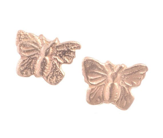 Butterfly Animal Insect Charm 14k Yellow Gold Baby Children/'s Tiny Stud Earrings