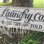 Laundry sign // vintage look laundry sign