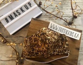 Grassy Camo, Washable, Reusable handmade fabric face mask