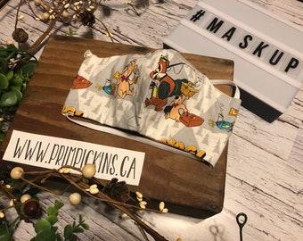 SALE Yogi Bear, Washable, Reusable handmade fabric face mask
