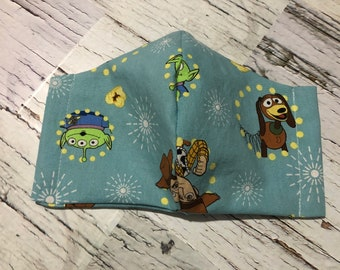 SALE Toy Story, Washable, Reusable fabric face mask