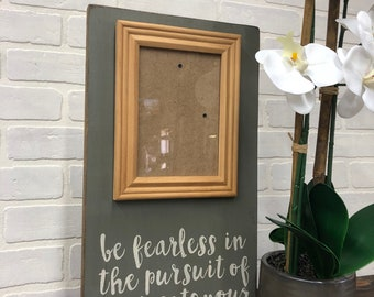 Fearless photo frame board // fearless in the persuit // photo  board