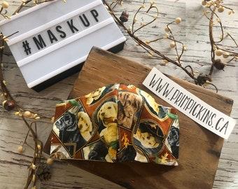 Man's Best Friend, Washable, Reusable handmade fabric face mask