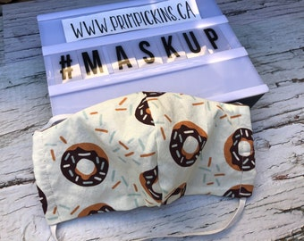 SALE Donut Mask Ready to ship Washable reusable fabric face mask