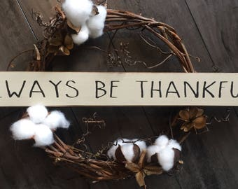always be thankful // shelf sitter // sign stick