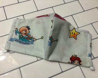 SALE Nintendo Princesses, Washable, Reusable handmade fabric face mask