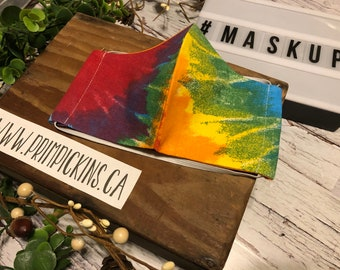 Ready to ship Washable reusable fabric face mask // face cover // Tie Dye