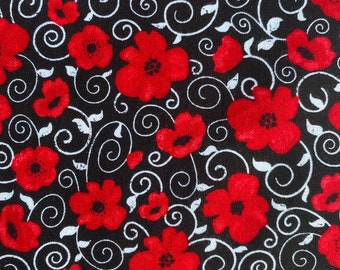 PRE ORDER - Washable reusable fabric mask face mask // face cover  // made to order // Poppies