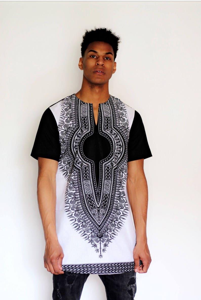 9fccf76c7a0 Black   white dashiki top by Christian Alaro