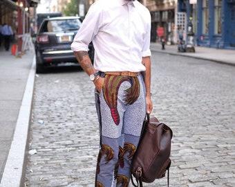 Slim Fit Ankara tuxedo pants