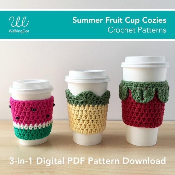 Summer Fruit Cup Cozy Crochet Patterns Digital Pdf Crochet Etsy