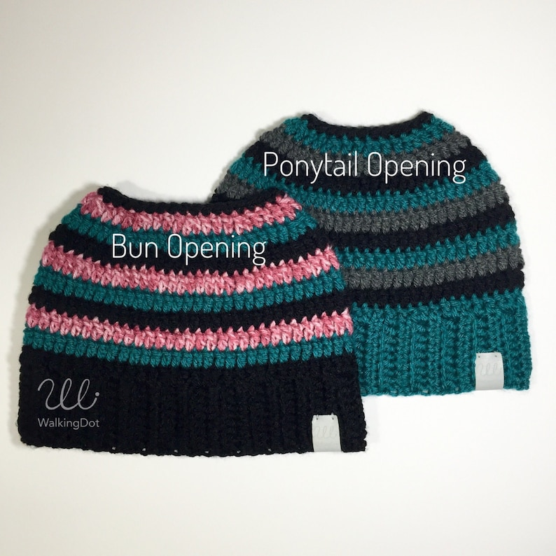 71d17b2d561 Crochet Messy Bun Hat Messy Bun Beanie Ponytail Hat
