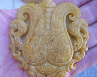 Very Beautiful Chinese Carved Jade or Stone Amulets