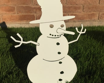 Snowman - 01 - Metal Yard Art, Christmas Decor, Christmas, Lawn Decoration, Outdoor Christmas Decor