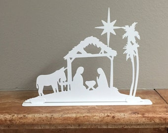 Christmas Nativity mantel piece decoration - 02, Fireplace Decor, Christmas Decorations