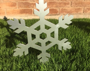 Snowflake - 07 - Metal Yard Art, Christmas Decor, Lawn Decor, Outdoor Christmas Decoration, Holiday Decor