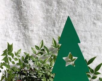 Christmas Tree with Star -16- Christmas Mantel Decor, Fireplace Decor, Christmas Sign, Christmas Decorations