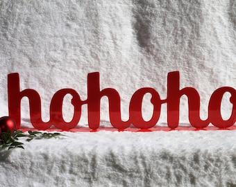 Ho Ho Ho,  Christmas Sayings, Santa, Christmas Mantel Decor, Fireplace Decorations, Christmas Sign, Christmas Decorations (15)