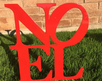 Noel Sign - 16 - Metal Yard Art, Christmas Lawn Decor, Outdoor Christmas Decorations, Christmas