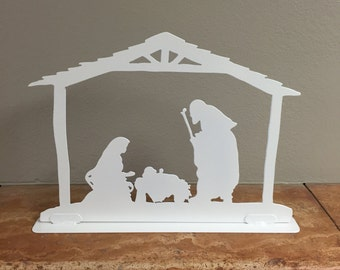 Christmas Nativity mantel piece decoration - 01.  Fireplace Decor, Christmas Decorations.