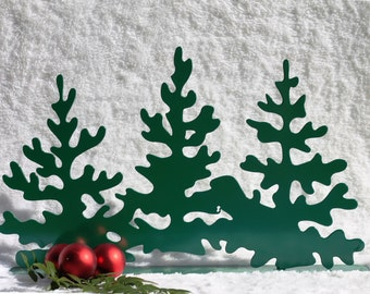Pine Trees -22- Christmas Mantel Decoration, Fireplace Decor, Christmas Trees, Christmas Decorations